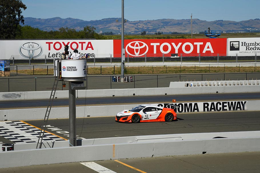 realtime racing acura nsx gt3 evo earns pair of sonoma podiums