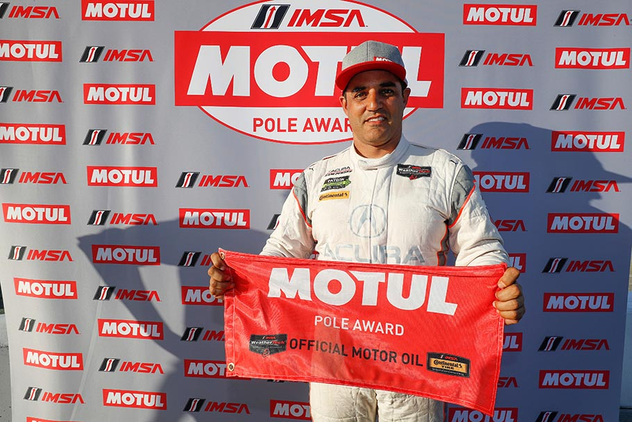 Juan Pablo Montoya #7 Acura Team Penske Long Beach DPi Pole Award Qualifying 2018