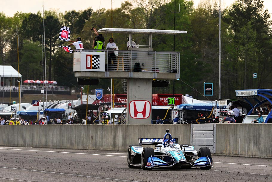 2019 Sato Win Barber IndyCar Finish
