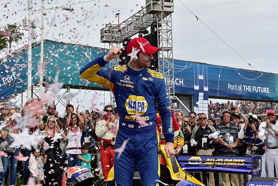 Alexander Rossi Long Beach IndyCar Podium 2018